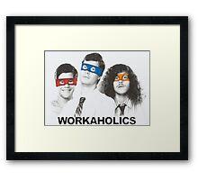 Workaholics tmnt Framed Print