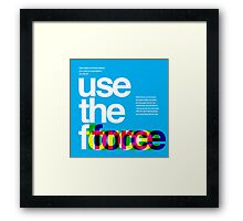 Star Wars: Use the Force Framed Print