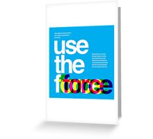 Star Wars: Use the Force Greeting Card