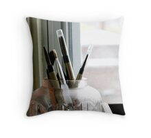 Paint Brushes Throw Pillow