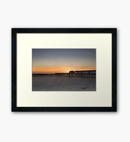 SUNSET AT LYTHAM PIER Framed Print