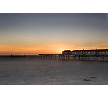 SUNSET AT LYTHAM PIER Photographic Print