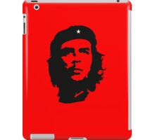 Che Guevara, Revolution, Revolutionary, Cuba, Power to the people! Black on Red iPad Case/Skin