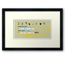 Username Framed Print