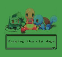 """Pokemon """"Missing the old days"""" Kids Clothes"""