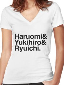 Helvetica Bliss - YMO Women's Fitted V-Neck T-Shirt