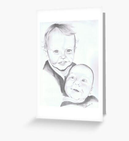 Luke and Peter Edwardes Greeting Card