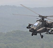 Apache Coming in for the Attack by Christian Eccleston