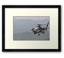 Apache Coming in for the Attack Framed Print