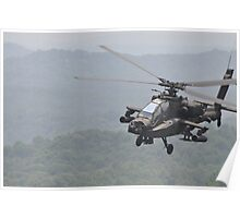 Apache Coming in for the Attack Poster