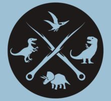 Hipster Dinosaurs Logo (white version) Kids Clothes