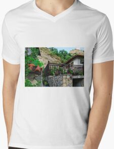 A country house in rural Bulgaria Mens V-Neck T-Shirt