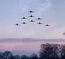 Red Arrows Winter Training  by J Biggadike