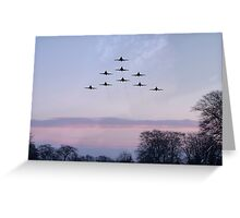 Red Arrows Winter Training  Greeting Card
