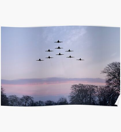 Red Arrows Winter Training  Poster