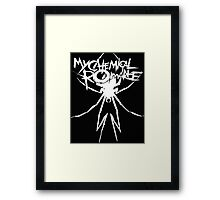 Inverted MCR Spider Logo Framed Print