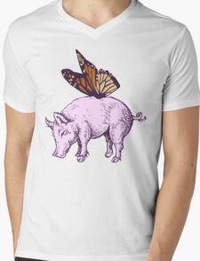 Butterpig Mens V-Neck T-Shirt