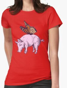 Butterpig Womens Fitted T-Shirt
