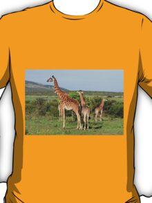 Giraffe Group On The Masai Mara T-Shirt