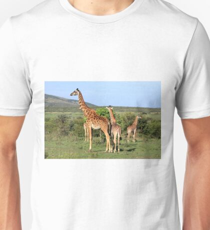 Giraffe Group On The Masai Mara Unisex T-Shirt
