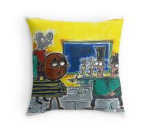 Ball Head & Block Head are Outed at the Double Heads Ball Throw Pillow