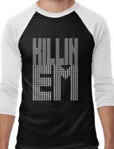 Killin Em [Oo Killem Response] [White Ink] | OG Collection Men's Baseball ¾ T-Shirt