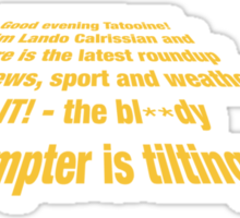 Teleprompter Sticker