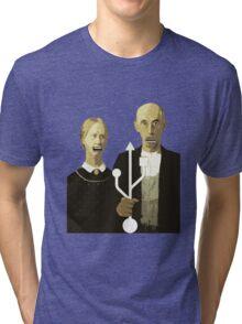 An American Socket Tri-blend T-Shirt