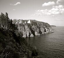 Coastline - B&W  by CaptureRadiance