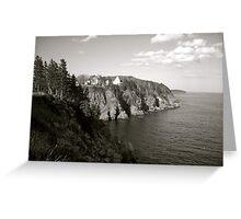 Coastline - B&W  Greeting Card