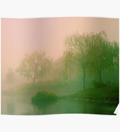 Island of fog. Poster
