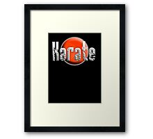 Karate Kid, Karate, Empty Hand, Martial Art, on Black Framed Print