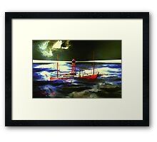 The South Goodwin Light Vessel - all products except duvet Framed Print