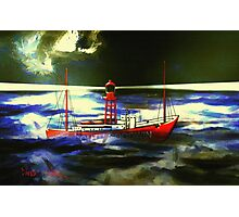 The South Goodwin Light Vessel - all products except duvet Photographic Print