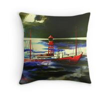 The South Goodwin Light Vessel - all products except duvet Throw Pillow