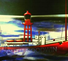 The South Goodwin Light Vessel - all products except duvet Sticker