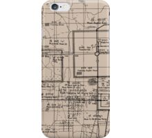 Old Map, Thma Puok District, Cambodia - Brown  iPhone Case/Skin