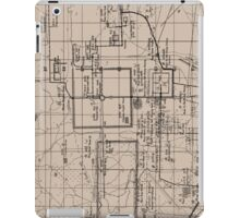 Old Map, Thma Puok District, Cambodia - Brown  iPad Case/Skin
