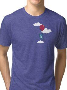 Teddy on Balloon small Tri-blend T-Shirt
