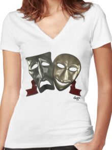 2Faced Women's Fitted V-Neck T-Shirt
