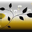 Poppy Scape Gold by Carl Hart
