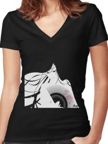 Dgz Women's Fitted V-Neck T-Shirt