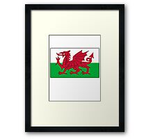 Welsh Flag, Pure & simple. Red Dragon of Wales Framed Print
