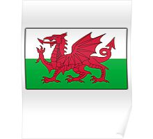 Welsh Flag, Pure & simple. Red Dragon of Wales Poster