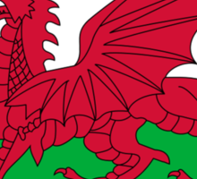 Welsh Flag, Pure & simple. Red Dragon of Wales Sticker