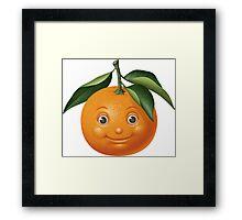 Smiling orange Framed Print