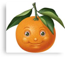 Smiling orange Canvas Print