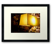 The light of the sentry leads the way Framed Print