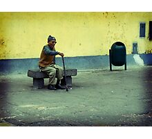 Old Man Sitting Photographic Print