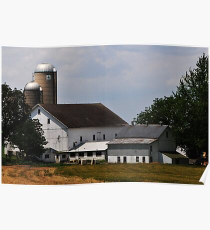 The Essence of an Amish Barn Poster